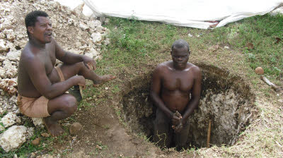 Digging a well!