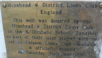 Minehead Lions plaque on well